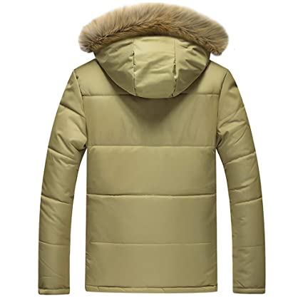Amazon.com: Christmas Deals! Teresamoon Mens Winter Medium Length Zipper Plus Size Thickened Hooded Cotton Outwear Coat: Home Audio & Theater