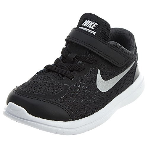 Nike Boy's Flex 2017 RN (TDV) Running Shoes (9 Toddler M, Black/Metallic Silver)