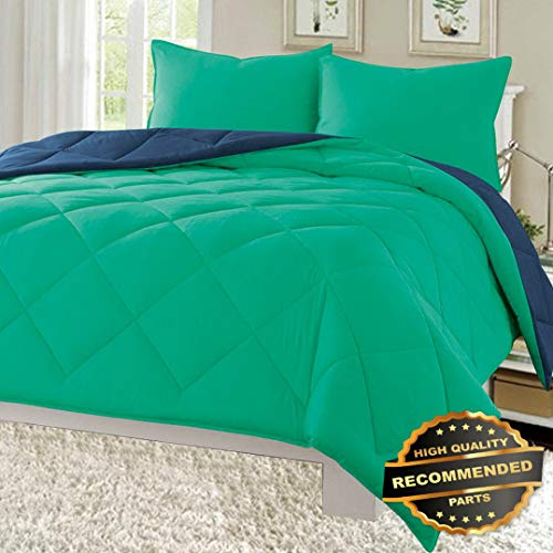 Ellyly Premium New Reversible 3pc Comforter Set Microfiber Quilted Bed Cover Soft Bedding | Style CMFTR-120221623 |