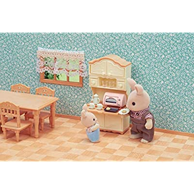 Sylvanian Families Mini Universal Dining Room Furniture, 5340, Multi-Colour: Toys & Games