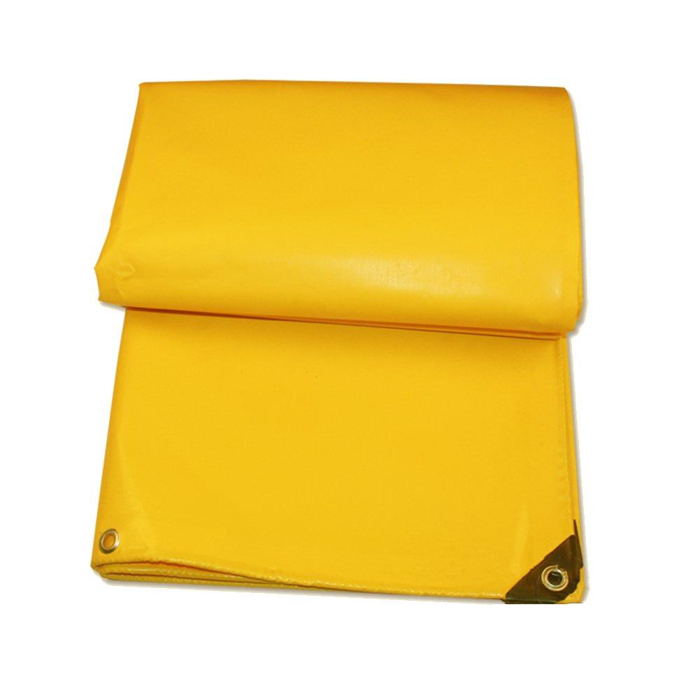 AJZXHE Tarpaulin wasserdicht staubdicht Sonnenschutz Carport Poncho feuchtigkeitsdichten Fracht staubdicht Tuch Hochtemperatur-Anti-Aging, gelb -Plane