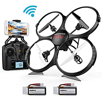 WIFI FPV Version U818A Drone with 720P HD Camera DBPOWER Headless Mode Quadcopter with 2 Batteries Long Flying Time Drone for Beginners from DBPOWER
