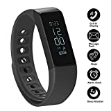 Fitness Tracker Pedometer SHONCO I5 Plus Waterproof Bluetooth Activity Tracker Smart Sports Band Bracelet Wristband with Touch Screen Calories Counter Health Sleep Monitor for iPhone Android Phones
