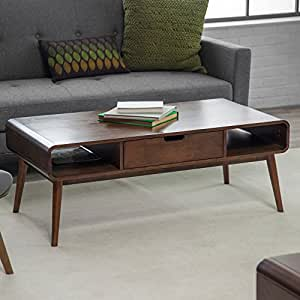 Bistro modern coffee tables rectangle wood for Coffee tables on amazon