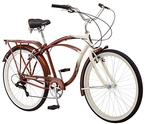 Schwinn Sanctuary Men's Cruiser Bicycle, 26-Inch Wheels, 18-Inch Frame, 7-Speed, Cream/Copper