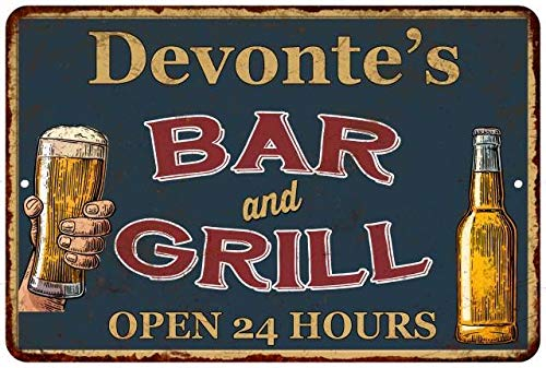 Chico Creek Signs Devonte's Green Bar and Grill Personalized Metal Sign 8x12 Decor 208120044803
