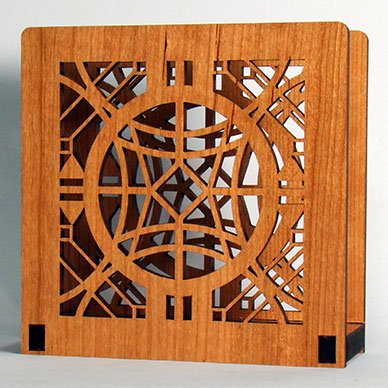 Frank Lloyd Wright CHAUNCEY WILLIAMS Design Laser Cut Wood Napkin Holder (Wright Design Holder Wood)