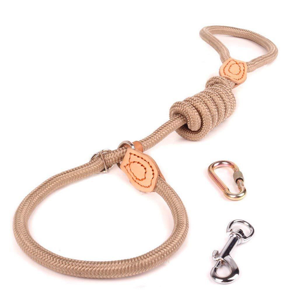 15mm130cm Dog Lead Dog Lead Leash Nylon Soft Pet Traction Rope,Beige,15mm130cm Dog Training Leash (color   15mm130cm)