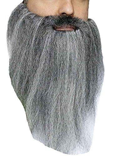 Fun World Men's Crimped Beard Costume Standard Gray Grey