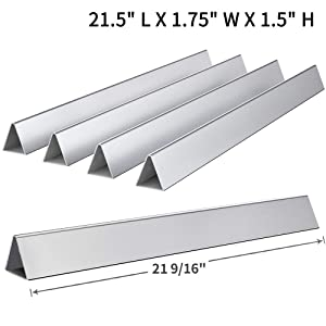 "SHINESTAR 7534/7535-21.5"" Flavorizer Bar Replacement for Weber Spirit E-200 S-200 E-210 S-210 with Side Control Knob, for Genesis Silver A, Spirit 500, 21 1/2 inch Stainless Steel Flavor Bar(Set of 5)"