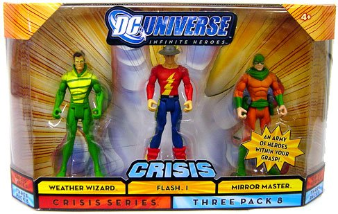 DC Universe Infinite Heroes Crisis Action Figure 3Pack Weather Wizard, Flash I Mirror Master (Action Figure Wizard)