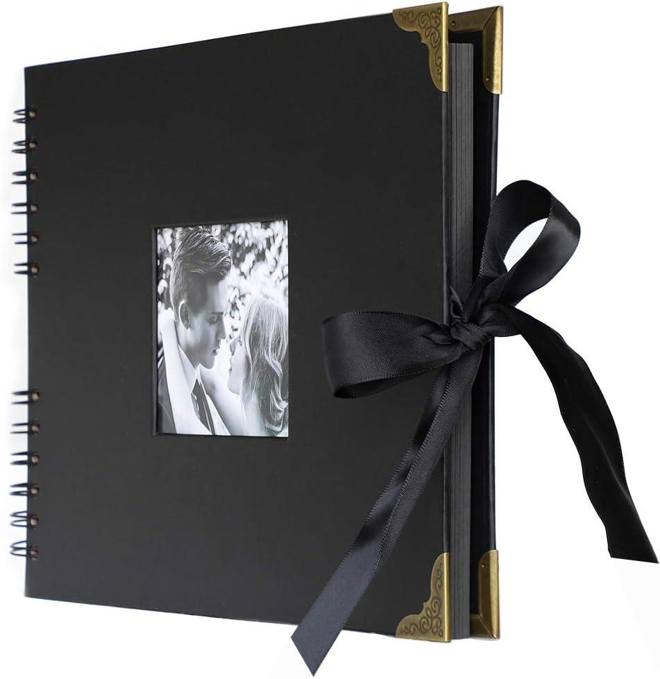 anaoo Album de Fotos DIY, Libros de Firmas Scrapbook Album Cuaderno Diario de Viaje Vintage Regalo Original para del día de San Valentín Aniversario de Boda Cumpleaños para Novios Amiga