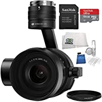 DJI Zenmuse X5S and Gimbal for DJI Inspire 2 Quadcopter Drone Pro Bundle w/ SanDisk 64 GB microSDXC, 5 Piece Cleaning Kit, Variable Neutral Density Filter, Cleaning Cloth