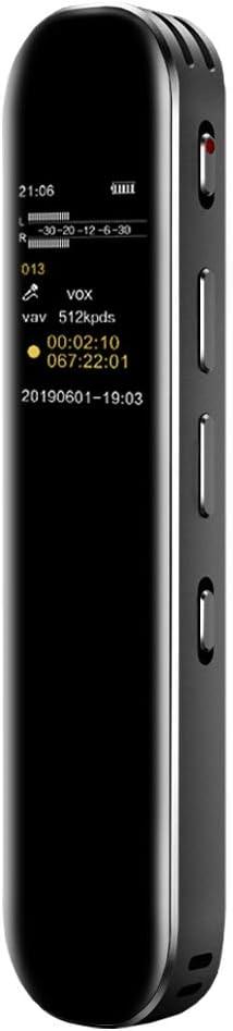 16G Grabadora de Voz Digital Portátil, HD Grabador Sonido con Reproductor MP3, Micrófono Incorporado Externo, Reducción de Ruido, Baterías Recargables para Reuniones, Entrevistas, Lecciones