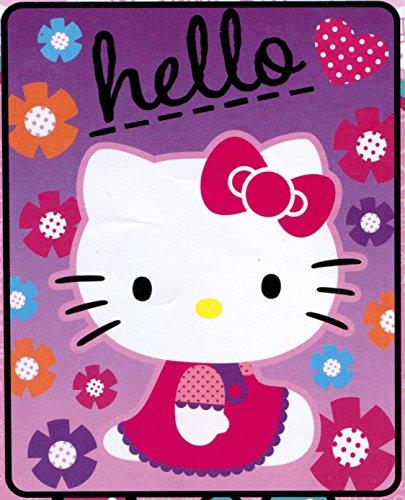 Hello Kitty Star Kitty Plush Fleece Throw Blanket - Soft, Warm and Comfortable