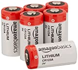 AmazonBasics Lithium CR123a 3V Batteries, 6-pack (Not Recommended for Arlo Cameras)