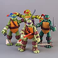 5'' Teenage Mutant Ninja Turtles Classic Collection TMNT Figures Toys 4 Pcs/Set