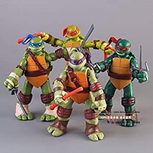 "5'' Teenage Mutant Ninja Turtles Classic Collection TMNT Figures Toys 4 Pcs/Set - 51mmCa IZWL - 5"" Teenage Mutant Ninja Turtles Classic Collection TMNT Figures Toys 4 Pcs/Set"