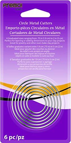 Polyform AMM1-1020 6-Piece Premo Graduated Cutter Set, Circle