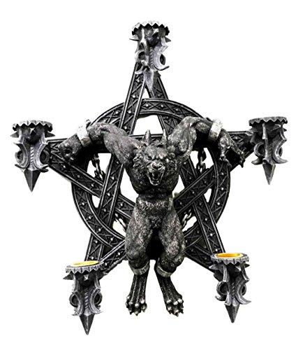 Chained Sacrifice Werewolf Pentagram Wall Sculpture Candleholder Decor Figurine (Candle Sculpture)