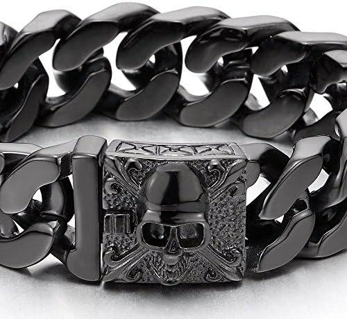 Envelopper Bracelet COOLSTEELANDBEYOND Cr/âne Marron Corde Coton Bracelet en Tress/é pour Gar/çons Homme Femme R/églable Entrelac/é
