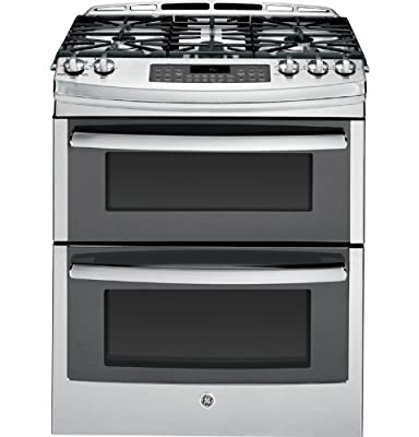 "GE PGS950SEFSS Profile 30"" Stainless Steel Gas Slide-In Sealed Burner Double Oven Range - Convection"