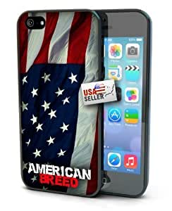 American Flag USA Black Plastic Cover Case for iphone 6 plus 5.5