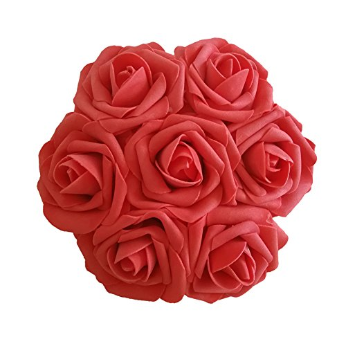 J-Rijzen Jing-Rise Artificial Roses 30pcs Real Touch Coral