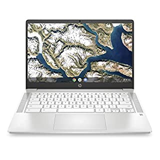 HP Chromebook 14-inch FHD Laptop, Intel Celeron N4000, 4 GB RAM, 32 GB eMMC, Chrome (14a-na0060nr, Ceramic White)