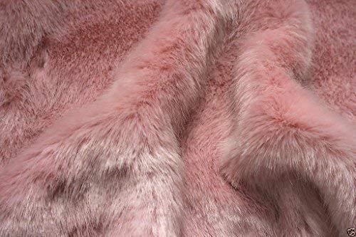 LUXURY Faux Fur Fabric Material BABY PINK