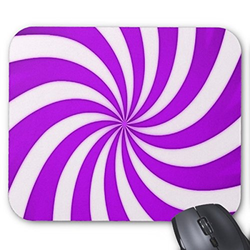Candy Cane Stripe Mouse - Spiral Purple Candy Cane Stripes Pattern Mouse Pad