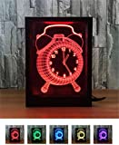 L&T STAR Clock Fashion Creative 3D Gift Lamp Bedside Lamp Led Night Light Decorative Atmosphere Acrylic Photo Frame