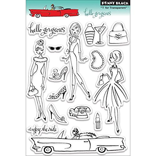 Penny Black 30-097 Hello Gorgeous Clear Stamp Notions