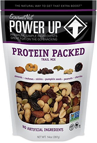 Power Up Trail Mix, Protein Packed Trail Mix, Non-GMO, Vegan, Gluten Free, No Artificial Ingredients, Gourmet Nut, 14 oz ()