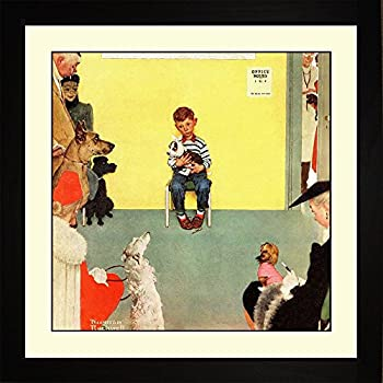 Amazon.com: Norman Rockwell AT THE VET'S Framed