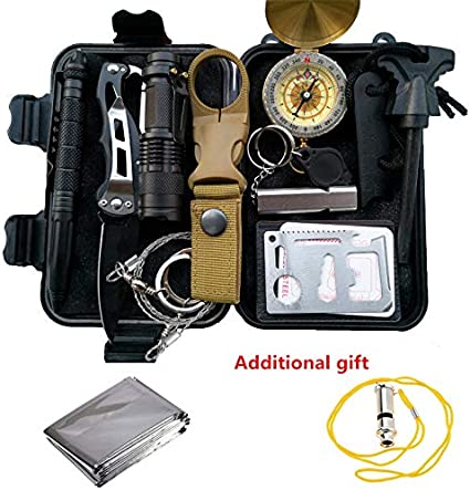 SOS Survival Emergency Gear Tools Box Kit Set MOST WANTED