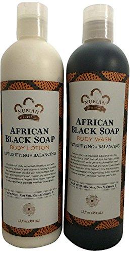 African Black Soap Lotion & Body Wash Set.. by Nubian 13oz