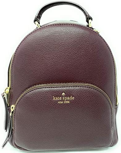 Kate Spade New York Jackson Medium Backpack Pebbled Leather Chocolate cherry