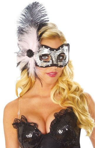 Costume Culture Women's Pink Cat Eyes Feather Mask, Pink, One (Pink Feather Mask)