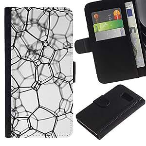 iBinBang / Flip Funda de Cuero Case Cover - Textura sucia - Samsung Galaxy S6 SM-G920