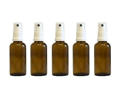 Farmacia de pulverizador de color marrón cristal vaporizador Efecto 5 piezas | cantidad de relleno 50