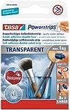 tesa Powerstrips Strips TRANSPARENT, für max. 1kg, Packung mit 8 Strips