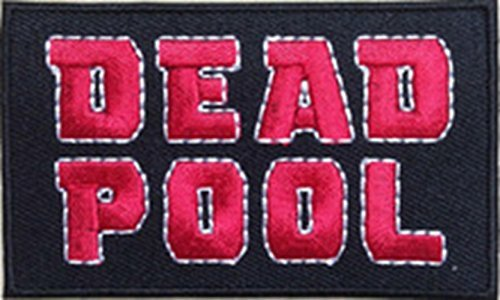 Blue Heron Marvel Comics Deadpool 3.12 Logo X-Men Embroidered Iron/Sew-on Applique Patch by Blue - Planet Blue Online Clothing