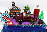 15 Piece ANIME Studio Ghibli Themed Birthday Cake Topper Set Featuring Ponyo, Yubaba, Jiji, Kodoma and Decorative Themed Accessories