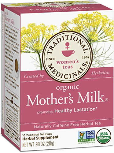 Traditional Medicinals Organic Mother's Milk Tea, 16 Tea Bags (Pack of 6) (Earth Mama Milkmaid Tea)