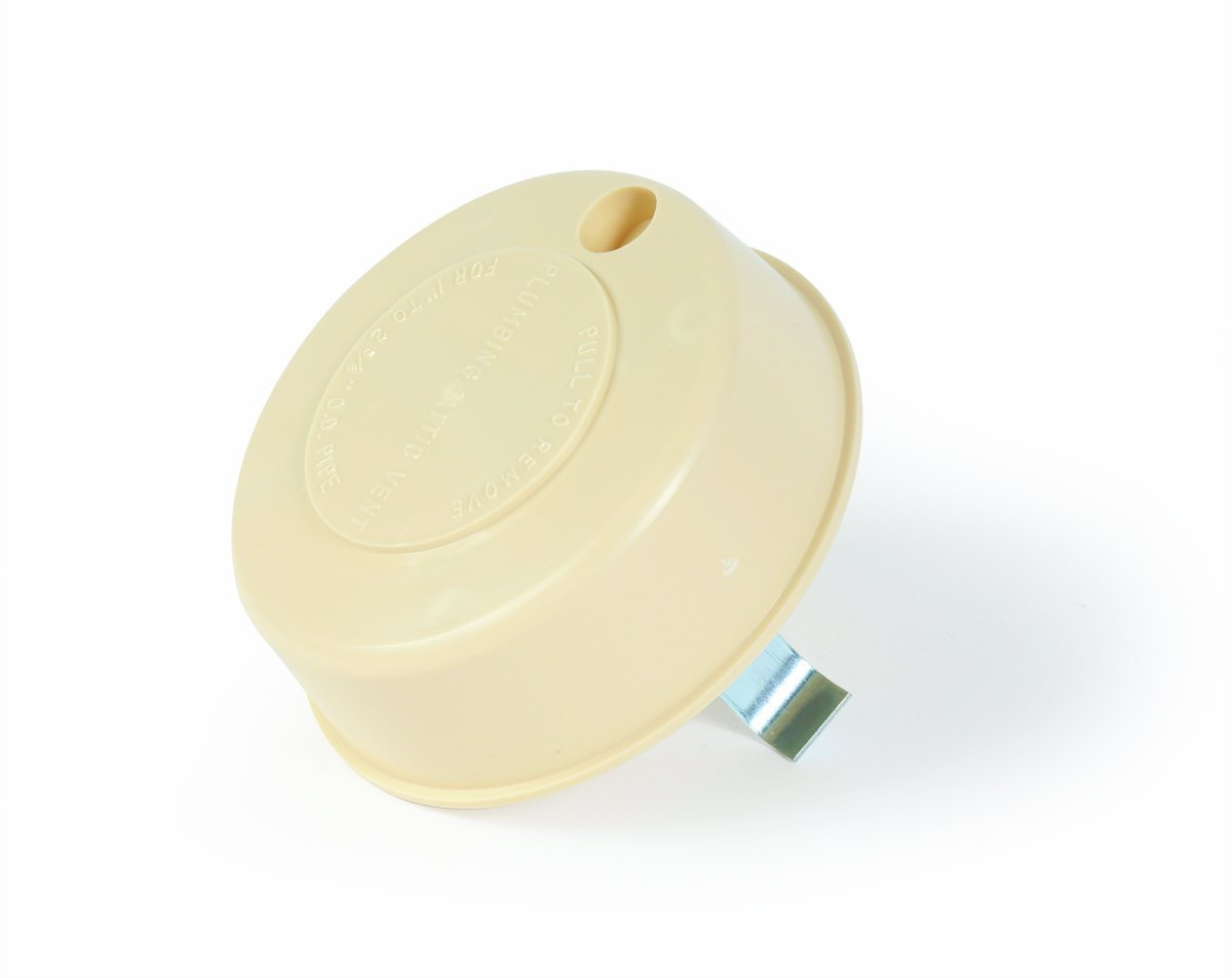 Fits Up to 2 Plumbing Vent Pipe Replaces Lost or Damaged RV Plumbing Vent Caps White 40034 Camco Replace-All Plumbing Vent Cap with Spring Attachment