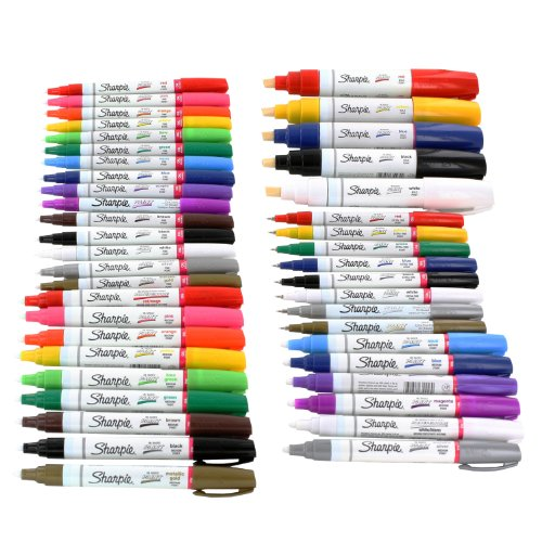 sharpie-paint-marker-extra-fine-fine-medium-bold-point-oil-based-all-43-color-set