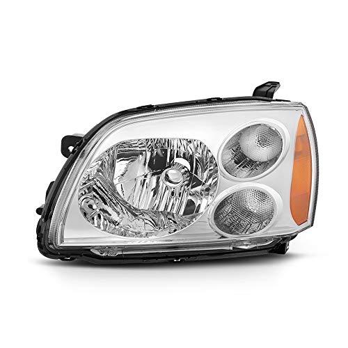 VIPMOTOZ Chrome Housing OE-Style Headlight Headlamp Assembly For 2004-2012 Mitsubishi Galant, Driver ()