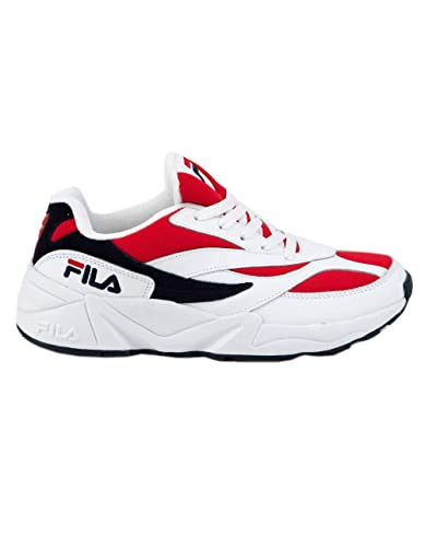 Amazon.com | Fila V94M White & Red Shoes, White Combo, 8 ...