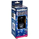 Sunlite SL220 BLB Spiral Energy Saving CFL Light Bulb Medium Base Blacklight, 20W, Blue (2 pack)